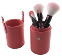 Pensel sæt med 9 pensler/børster i Lyserød beholder